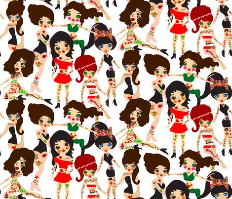 Kat Von D and Friends fabric by orangefancy on Spoonflower - custom fabric