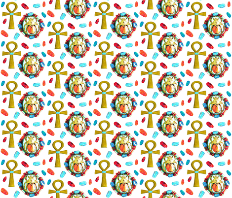 SCARAB GEMS fabric by bluevelvet on Spoonflower - custom fabric