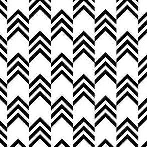 Small Chevrons Black and White