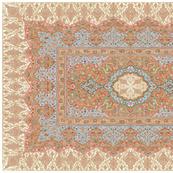 persian knot tea towel rose gold
