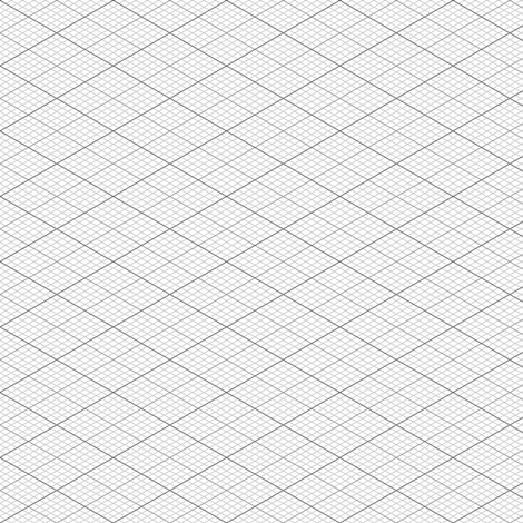 isometric graph : grey fabric by sef on Spoonflower - custom fabric