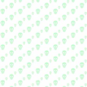Skulls Mint on White