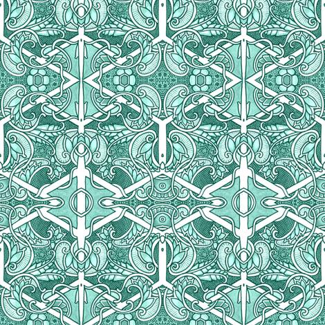 Yo Ho Ho and a Paisley Vine fabric by edsel2084 on Spoonflower - custom fabric