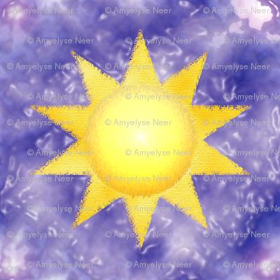 Sun on Purple Waves