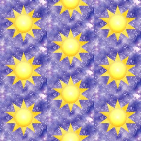 Sun on Purple Waves fabric by amyelyse on Spoonflower - custom fabric