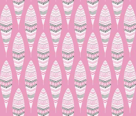 Dandelion Feathers Mauve fabric by natitys on Spoonflower - custom fabric