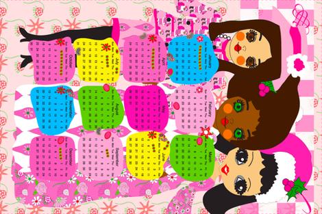 2016 Tea Towel Calendar fabric by orangefancy on Spoonflower - custom fabric