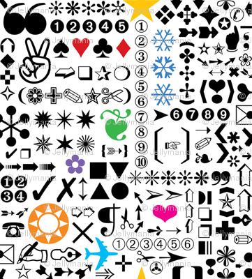 Zapf Dingbats (zoom it!) giftwrap - jellymania - Spoonflower