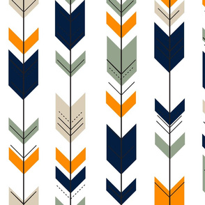 Fletching arrows // navy/tan/sage/orange