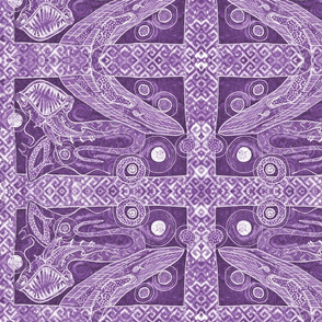 the great sea monsters in purple