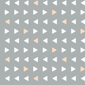 triangles // grey with blush