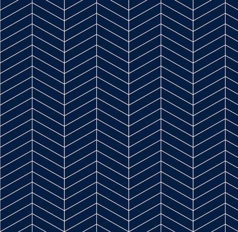 Herringbone // Navy fabric by littlearrowdesign on Spoonflower - custom fabric
