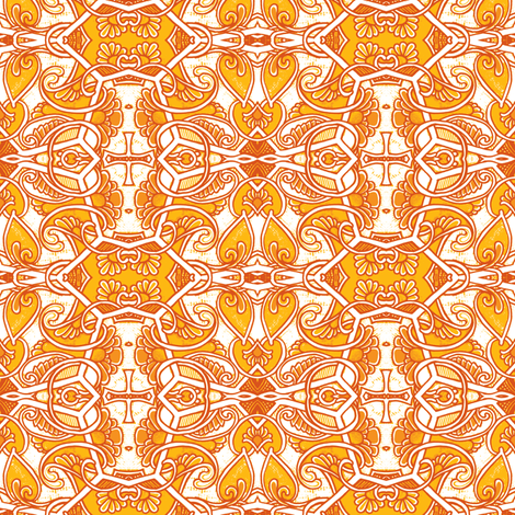 Contemplations on a Mandarin Orange fabric by edsel2084 on Spoonflower - custom fabric