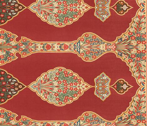 Ottoman tent wall  fabric by wanderingaloud on Spoonflower - custom fabric