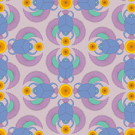 Scarabaeus sacer (lt) fabric by jjtrends on Spoonflower - custom fabric