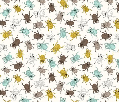 Beetles fabric by einekleinedesignstudio on Spoonflower - custom fabric