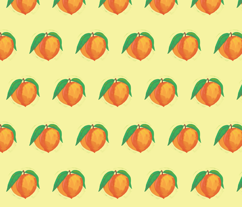 Fruit Salad - Peach fabric by joyfulroots on Spoonflower - custom fabric