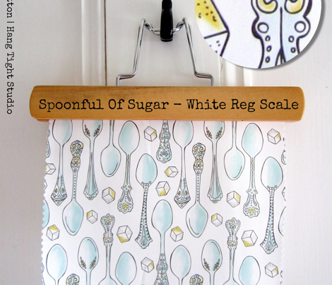 Spoonful of Sugar - Watercolor Kitchen White Regular Scale