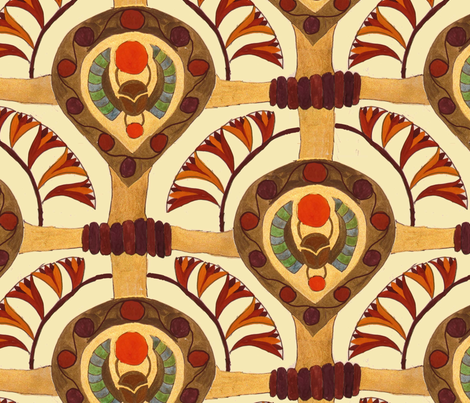 Egipt scarabs  fabric by belana on Spoonflower - custom fabric