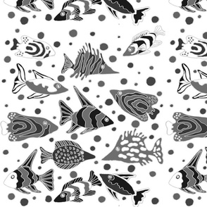 fish_fabric_design_black_and_white