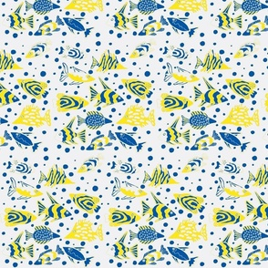 fish_fabric_design_yellow white and blue-ch