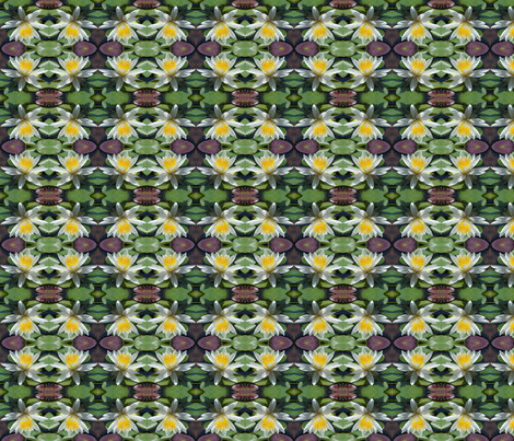 White Water Lilies 4203 fabric by falcon11 on Spoonflower - custom fabric