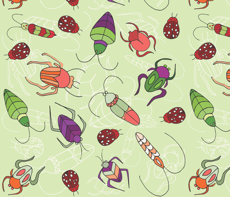 Beetle Bug fabric by pamela_hamilton on Spoonflower - custom fabric