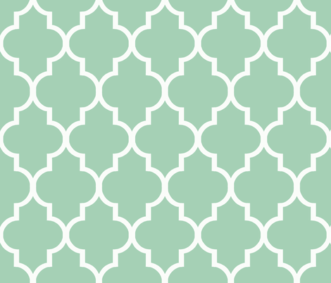 Quatrefoil in Mint fabric by willowlanetextiles on Spoonflower - custom fabric