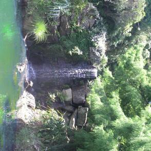 Waterfall in New Zealand.
