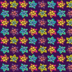 PINWHEELS FLOWERS DEEP PURPLE