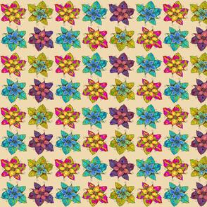 PINWHEELS FLOWERS BEIGE