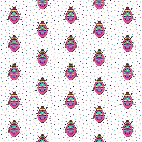 Colorful Beetle fabric by j_zimmermann on Spoonflower - custom fabric