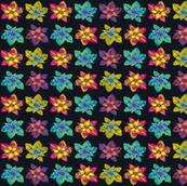 PINWHEELS FLOWERS BLACK