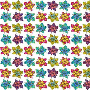 PINWHEELS FLOWERS White