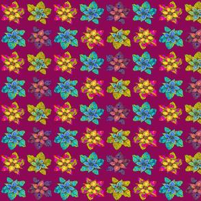 PINWHEELS FLOWERS BURGUNDY