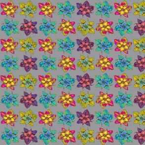 PINWHEELS FLOWERS GREY