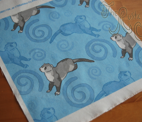 Whimsical Ferrets - blue