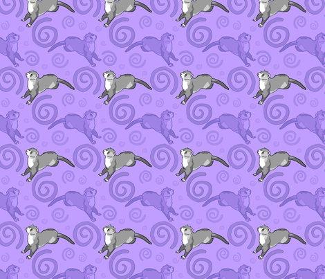 whimsical ferrets purple wallpaper rusticcorgi