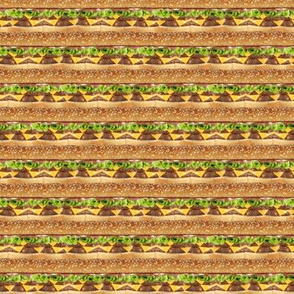 Cheeseburger stripe 1/2 size