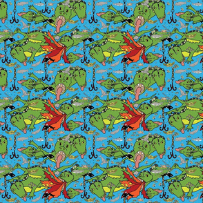 Leviathan sea creature fabric