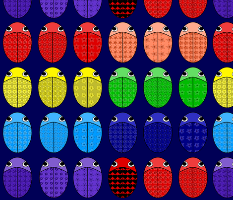Where is the love (bug)? fabric by alexsan on Spoonflower - custom fabric
