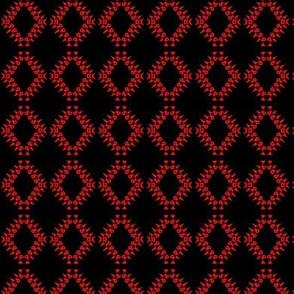 Eyelet Crochet Lace Scarlet Black