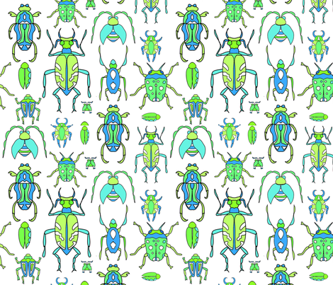 Flouncy Beetles fabric by van_winkle on Spoonflower - custom fabric