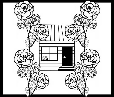 AintNoRoseGarden3 fabric by grannynan on Spoonflower - custom fabric
