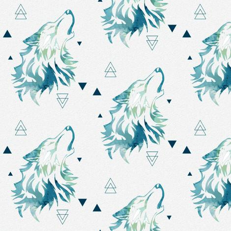 Howl At The Moon fabric by hausofzoe on Spoonflower - custom fabric