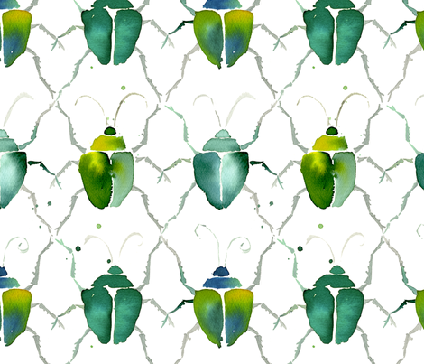 beetle_pattern fabric by karismithdesigns on Spoonflower - custom fabric