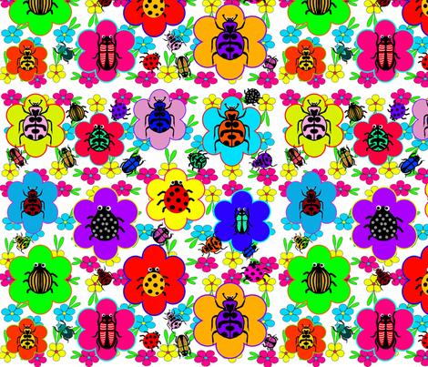 Beetle Mania fabric by charldia on Spoonflower - custom fabric