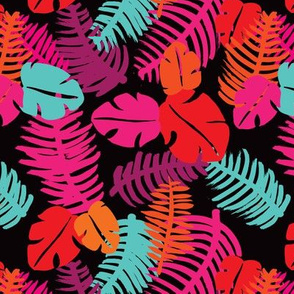 Tropical brazil summer leaf jungle monstera  illustration pattern