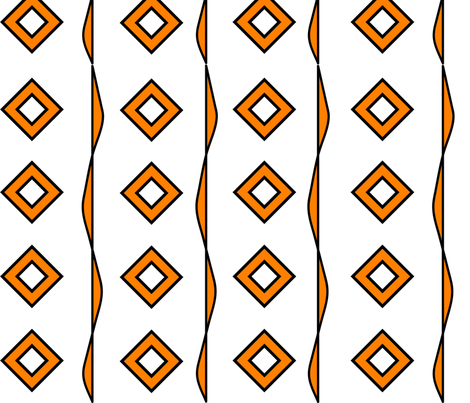 Orange Diamonds1 fabric by kelleecarr on Spoonflower - custom fabric