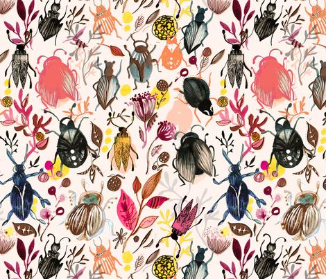 SHANNON_NEWLN_BEETLES2_2014 fabric by shannonnewlin on Spoonflower - custom fabric